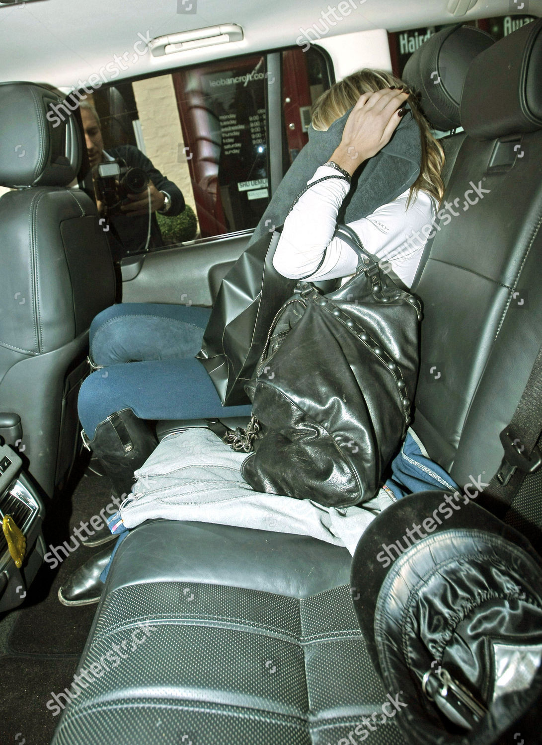 Admirable Abigail Clancy Leaving Hairdressers Under Towel After Uwap Interior Chair Design Uwaporg