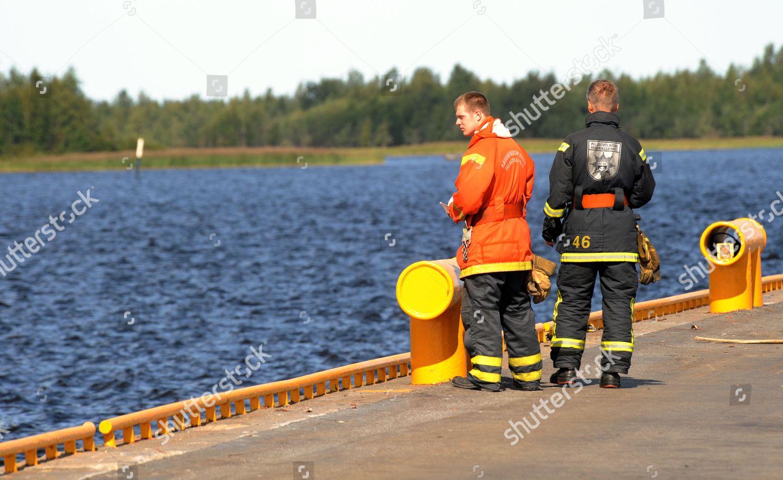 Pietarsaarifinland Fire Brigade Carry Out Check Radio
