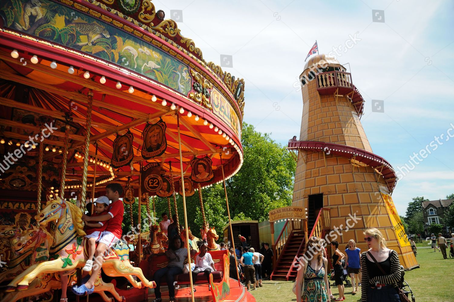 Helter Skelter Slide Roundabout Carters Steam Fair Editorial Stock