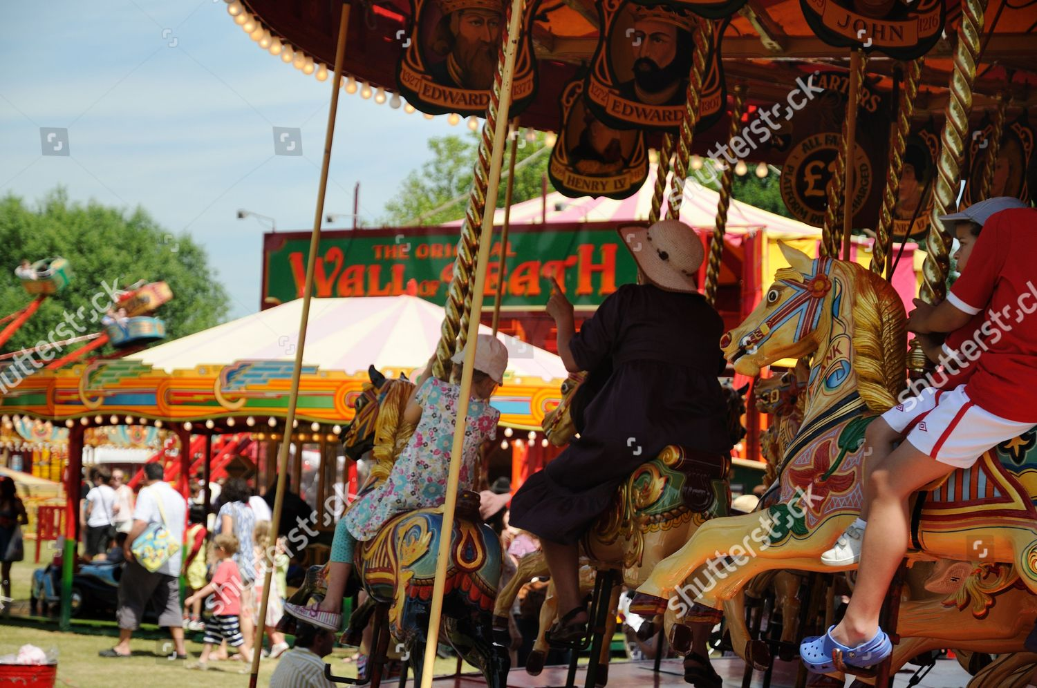 People Ride On Roundabout Carters Steam Fair Editorial Stock Photo