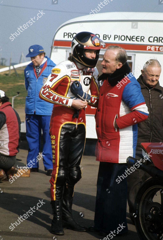 500cc World Champion motorcycle rider Barry Sheene Editorial