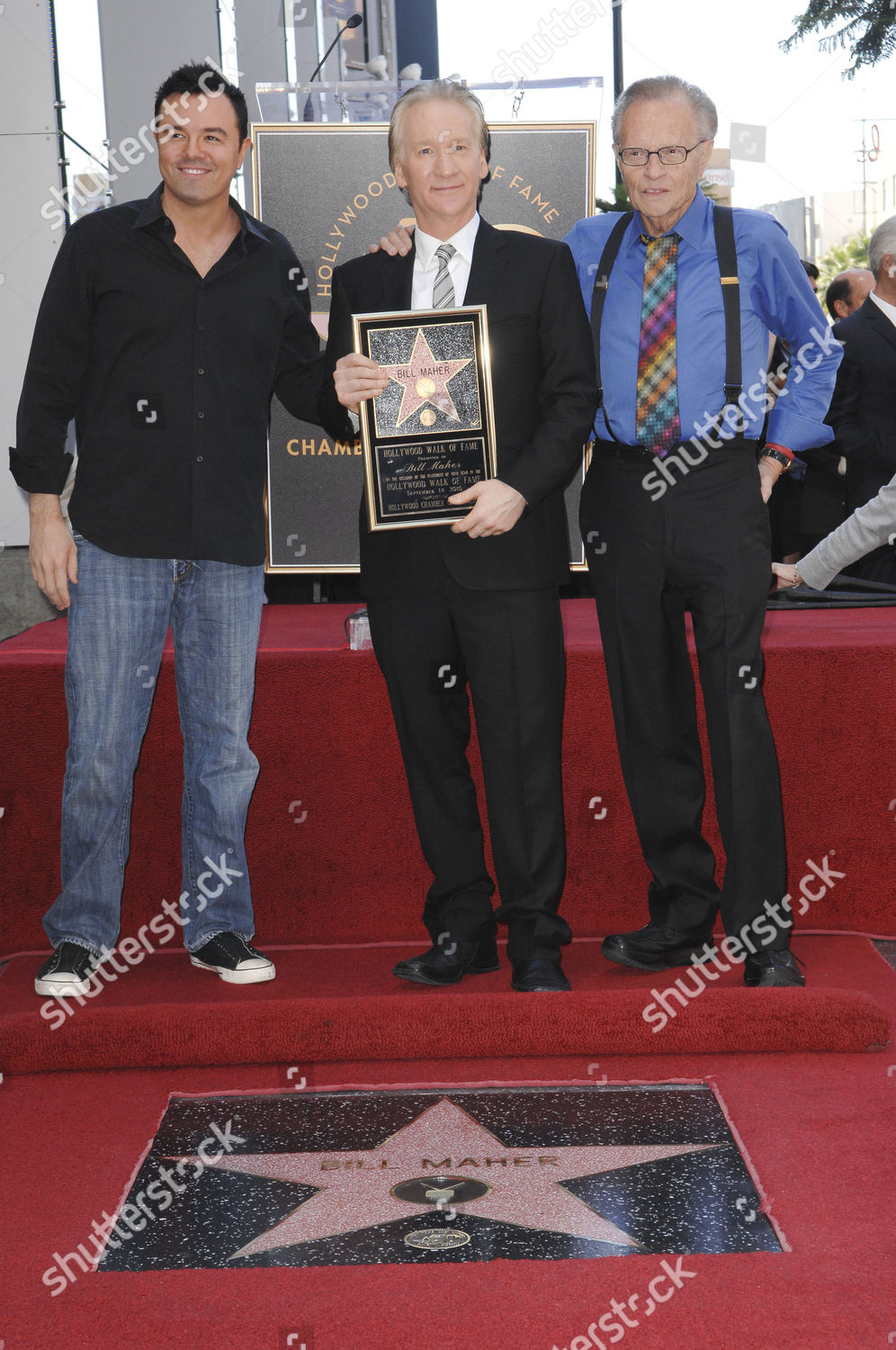 Stock photo of Bill Maher honored with a star on The Hollywood Walk Of Fame, Los Angeles, America - 14 Sep 2010