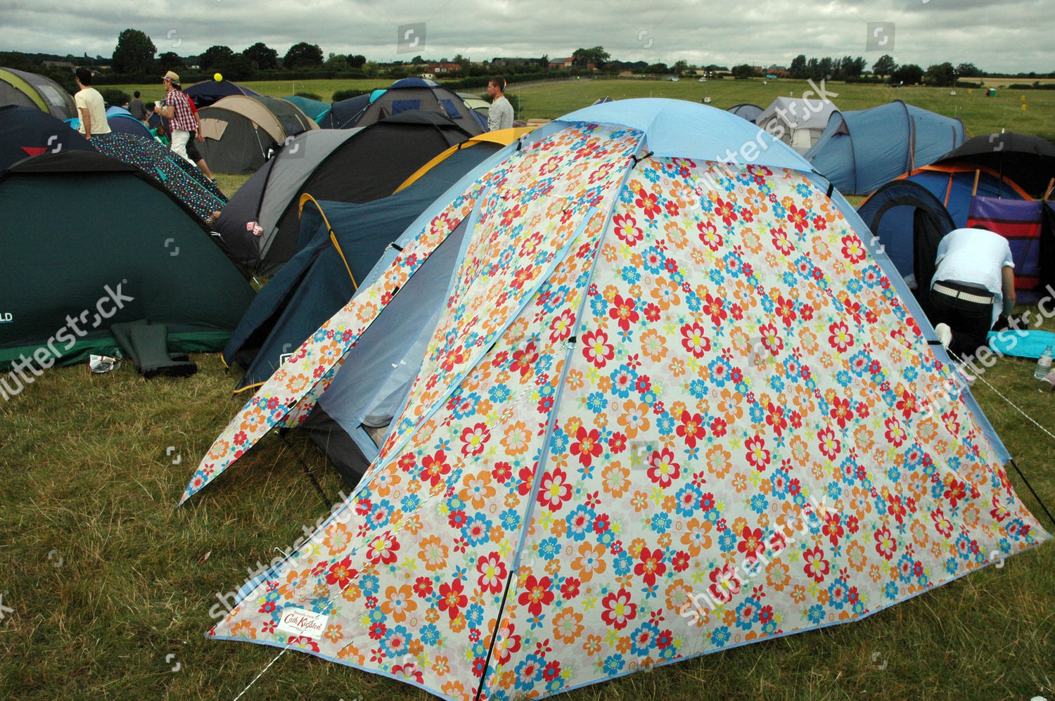 Stock photo of Virgin Mobile V Festival Hylands Park Chelmsford Essex Britain & Pictures show Camp Site Festival Goers Cath Kidston Editorial Stock ...