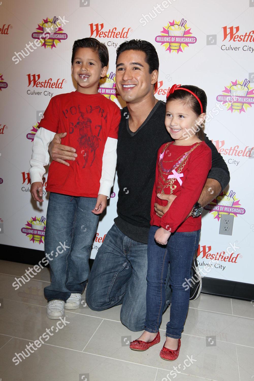 Mario Lopez His Family Editorial Stock Photo Stock Image