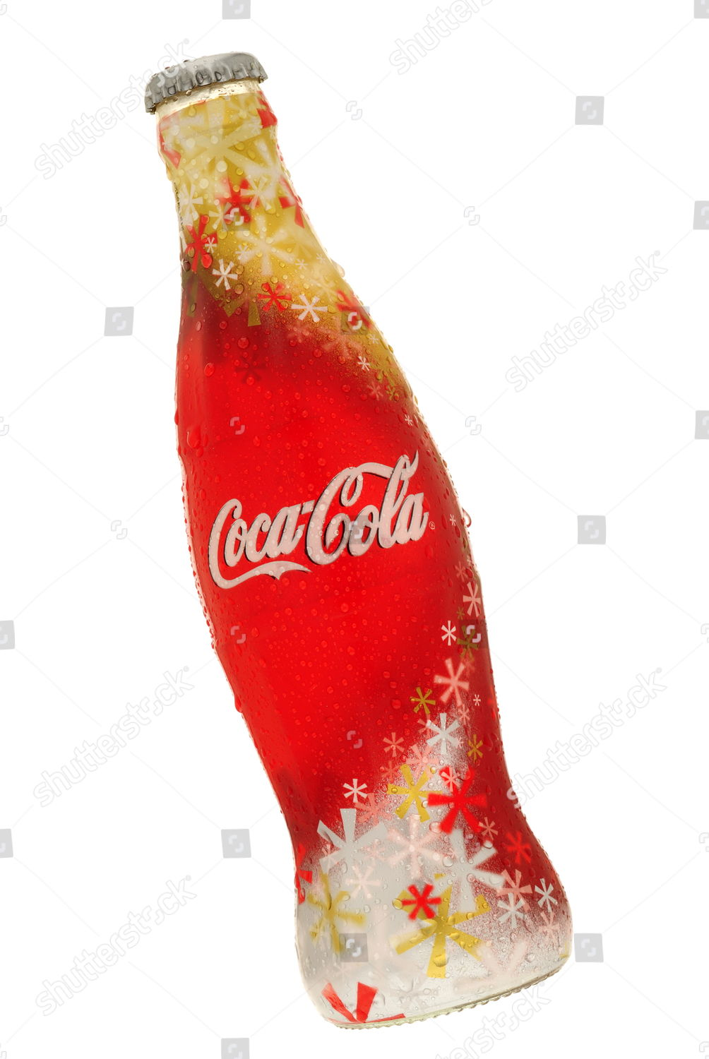 Coca Cola Christmas Bottle.Coca Cola Limited Edtion Christmas Bottle Editorial Stock