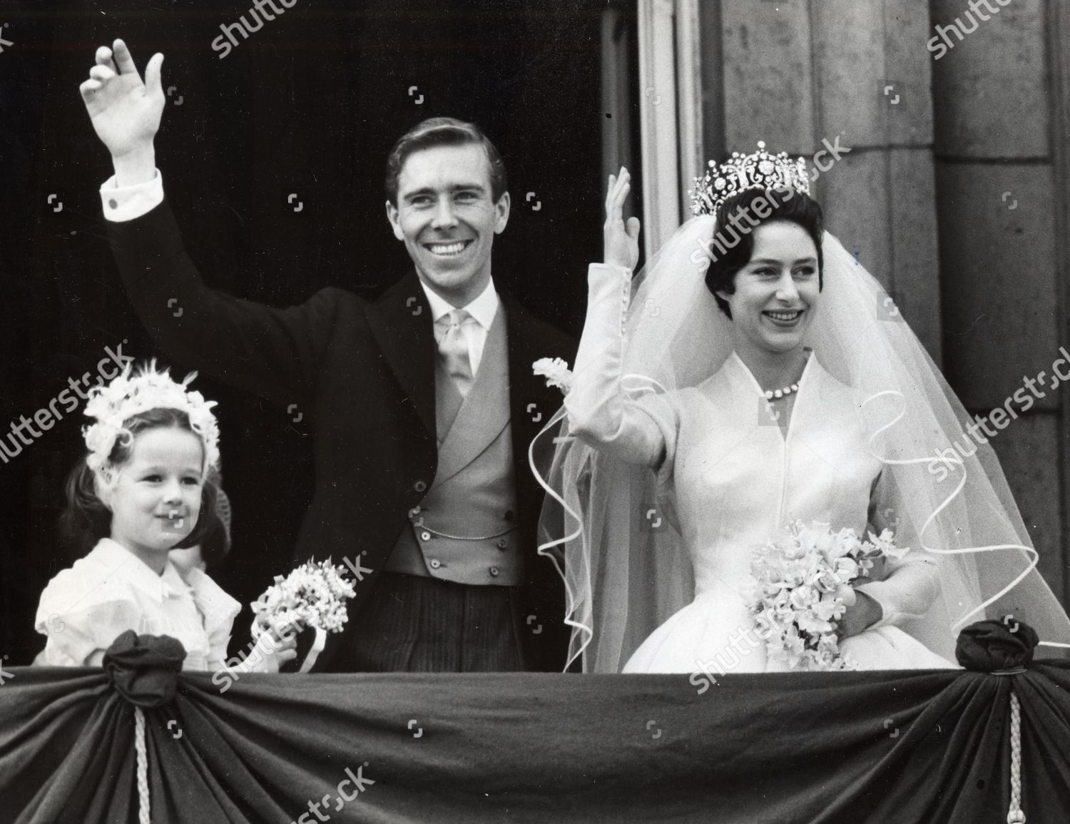 Princess Margaret Anthony Armstrong Jones On Balcony Editorial