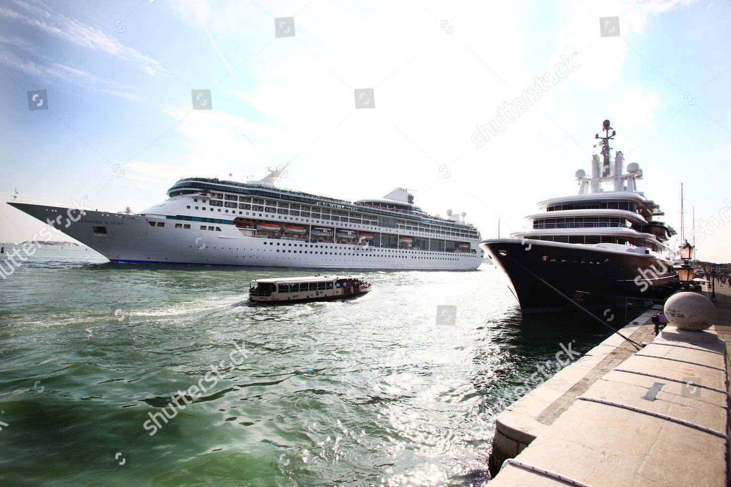 Roman Abramovichs 377foot Boat Luna Flanked By Editorial Stock Photo