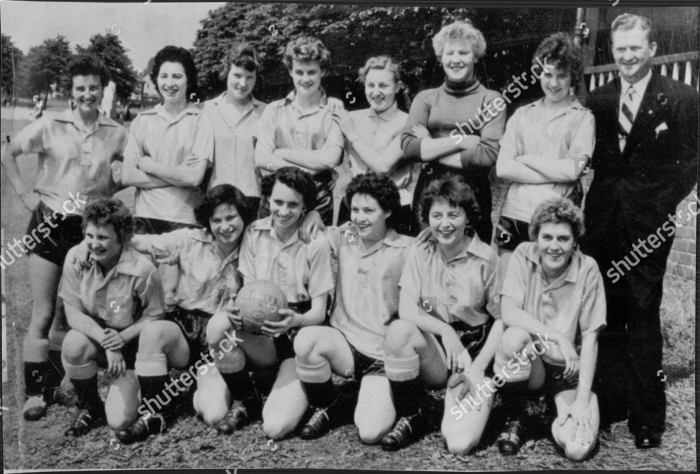 Football Women 1958 Handy Angel Girls Football Editorial