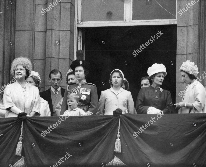 Trooping Colour 1962 Queen Mother Queen Elizabeth Editorial