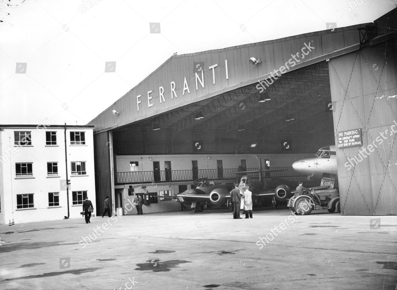 Stock photo of The Ferranti Building And Hanger At Turnhouse Airport In Edinburgh Scotland.