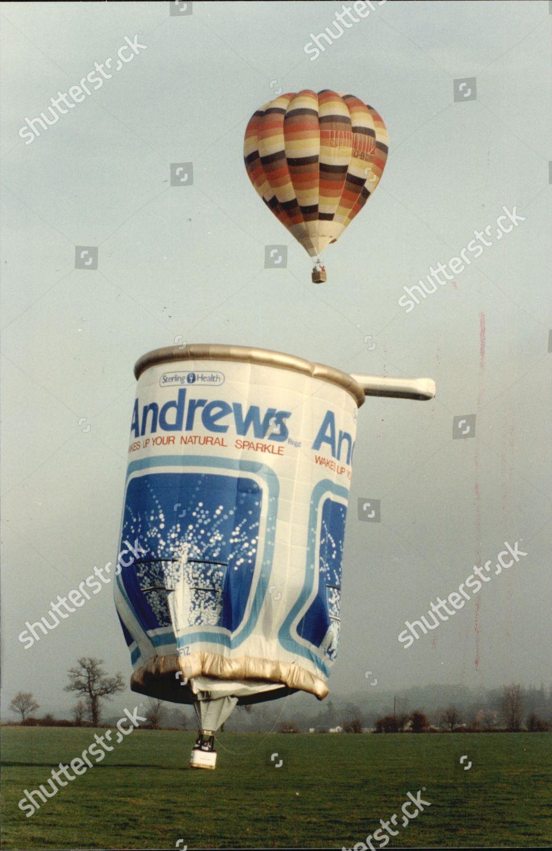 Stock photo of Andrews Liver Salts Hot Air Balloon 1990.