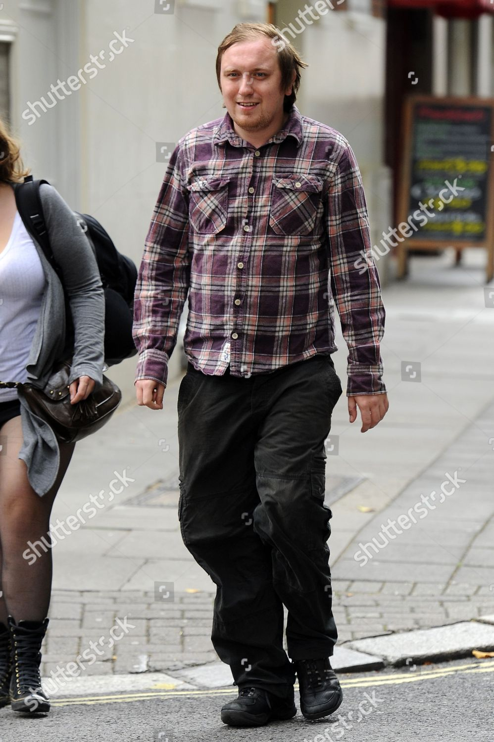 Stockfoto von Jonathan May-Bowles aka Jonnie Marbles arriving at Westminster Magistrates court for sentencing, London, Britain - 02 Aug 2011