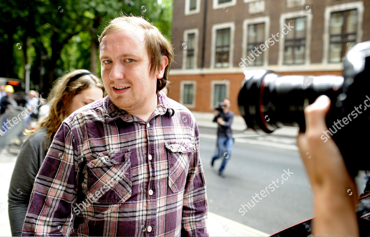 Stock photo of Jonathan May-Bowles aka Jonnie Marbles arriving at Westminster Magistrates court for sentencing, London, Britain - 02 Aug 2011