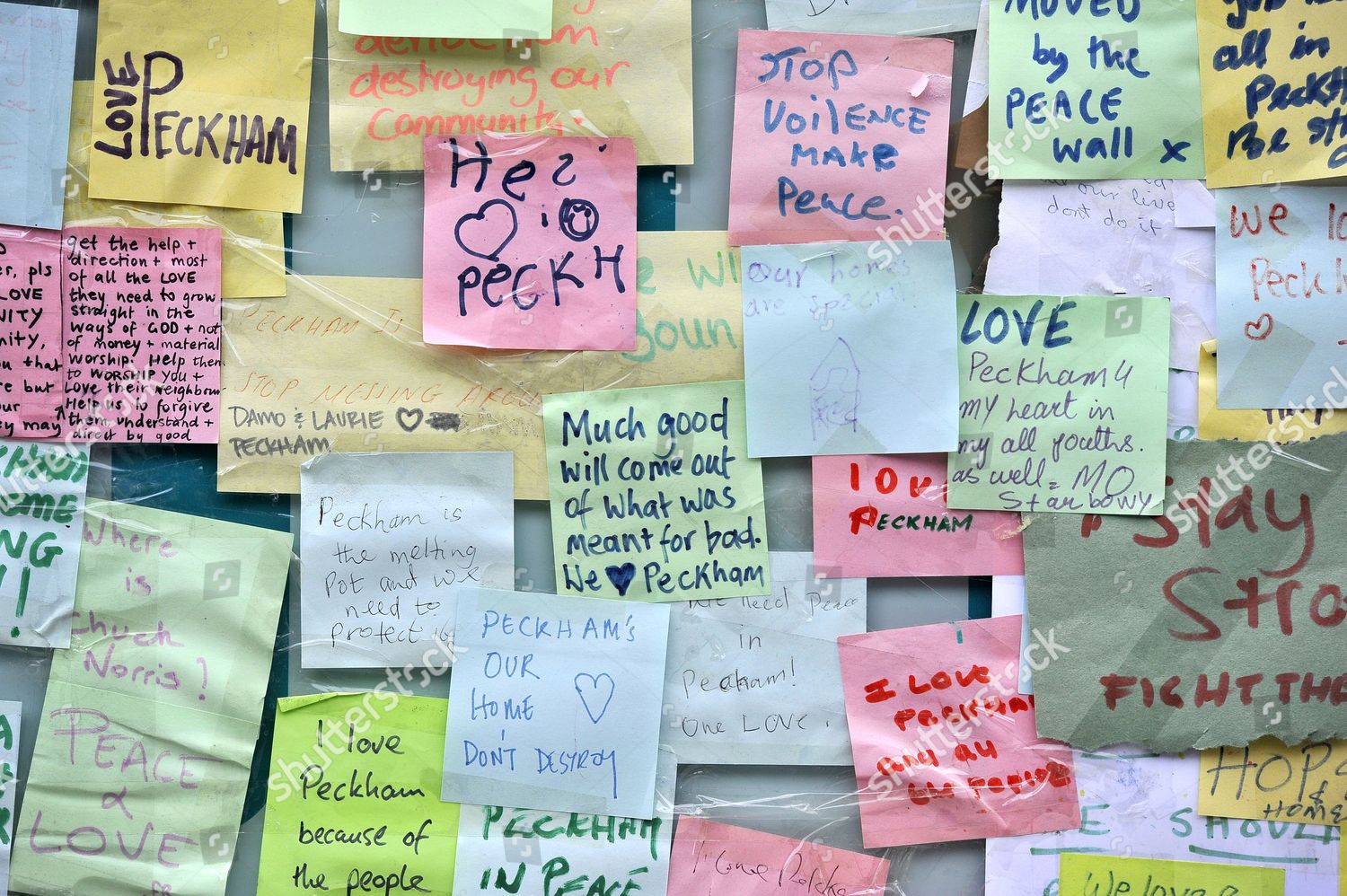 Messages posted Poundland store Peckham Lane Editorial Stock