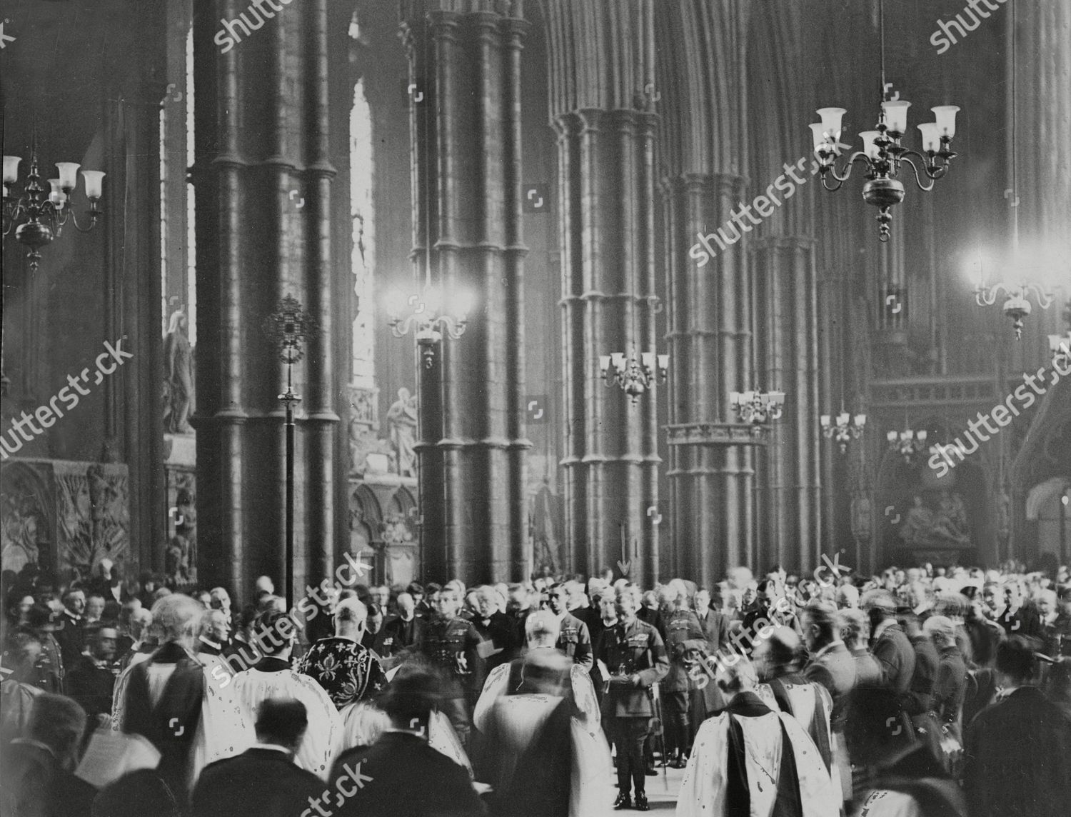 Scene Inside Westminster Abbey During Funeral Unknown Editorial