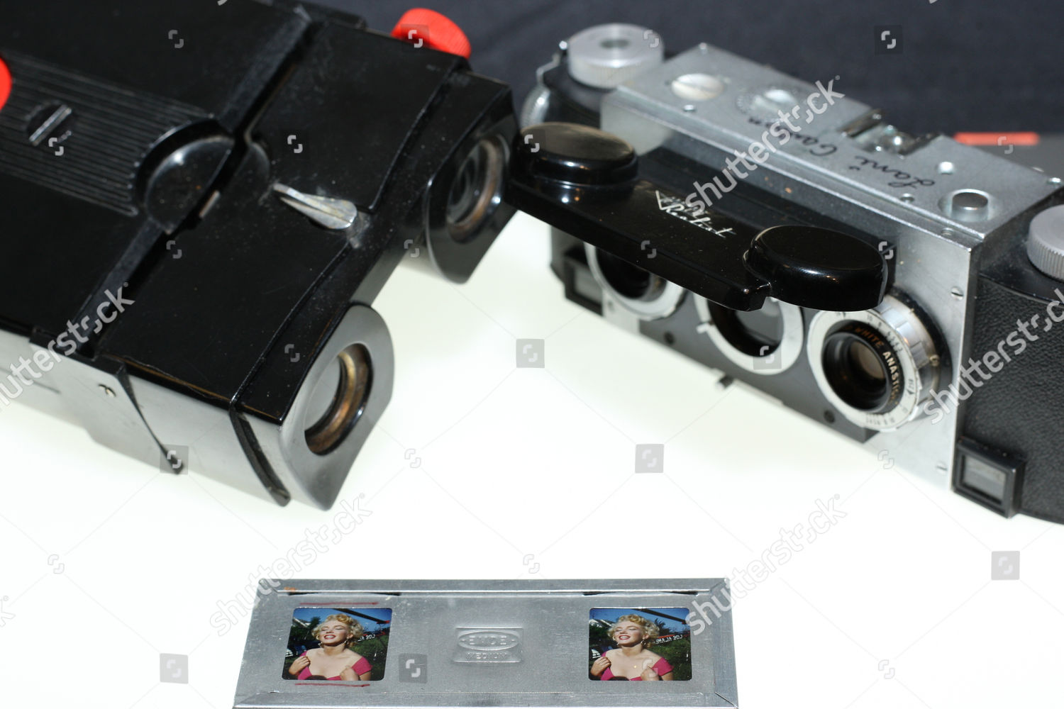 Realist Stereoscopic camera viewer 3D slides Marilyn Editorial Stock