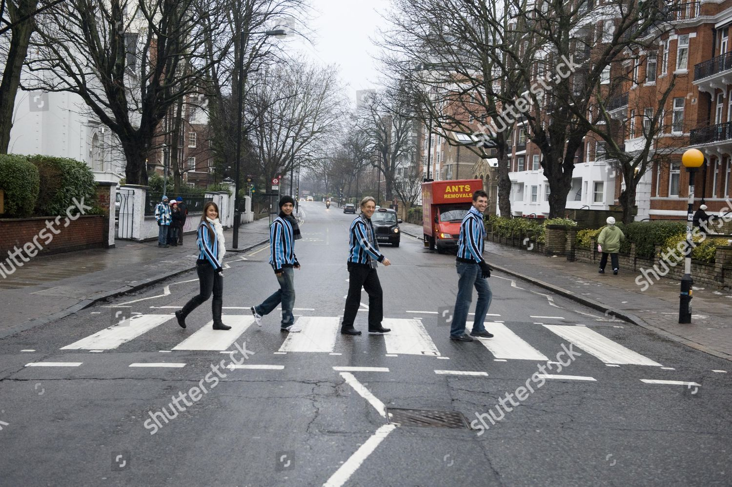 Zebra Crossing Abbey Road Nw8 Made Famous Editorial Stock