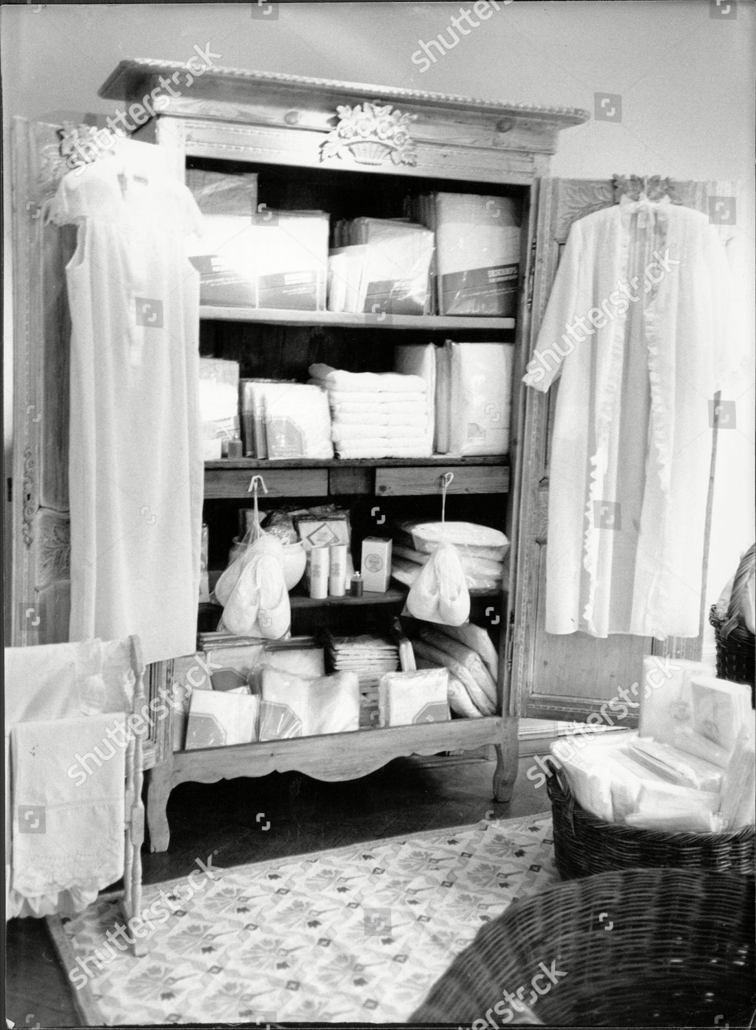 Towels Linen On Sale General Trading Company Editorial Stock