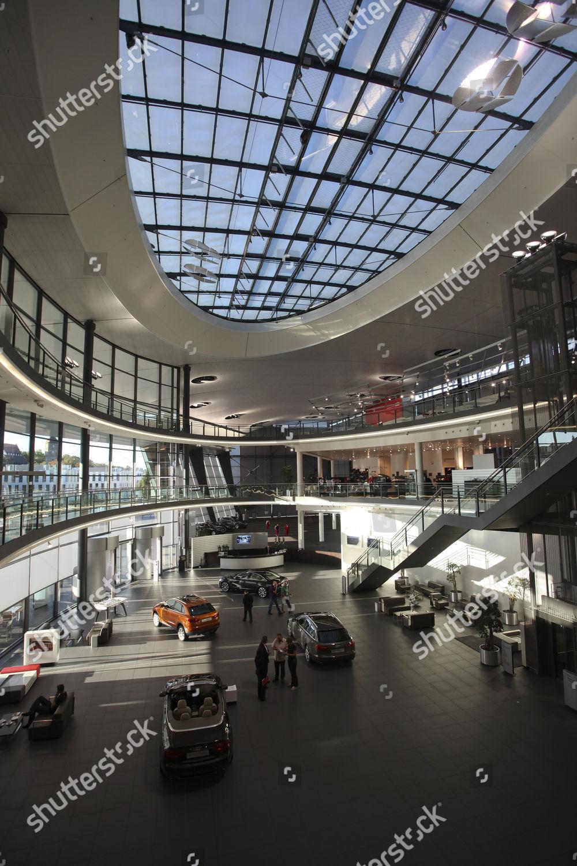 Audi motorcar museum forum seen Audi factory Editorial Stock