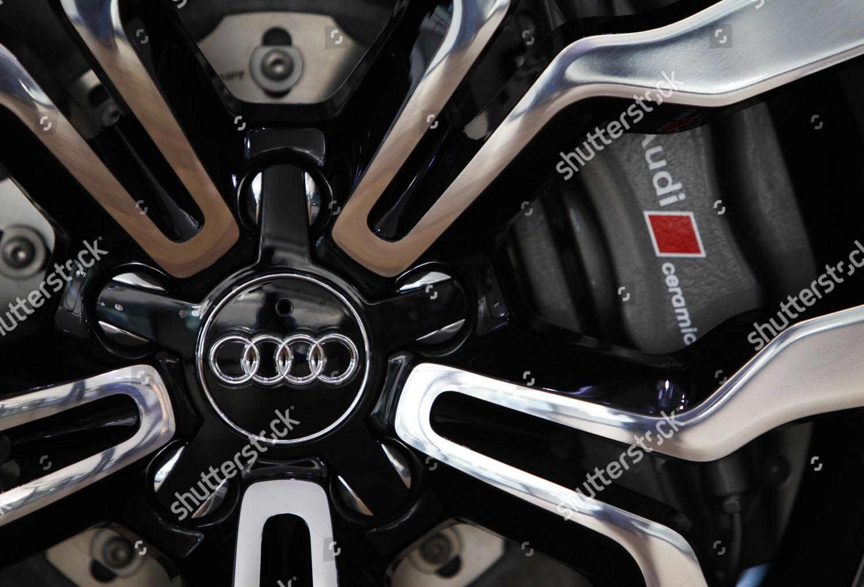 wheel Audi motorcar seen on production line Editorial Stock
