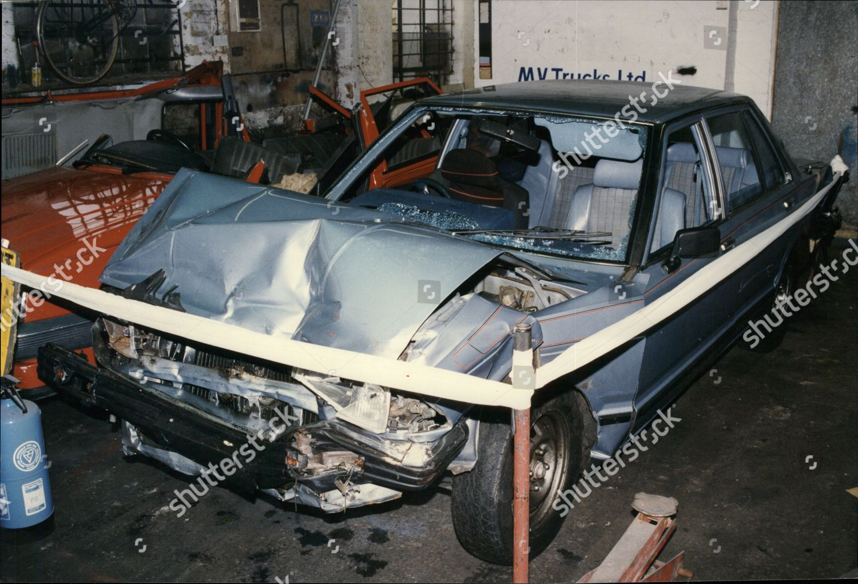 Wreckage Stolen Nissan Motorcar Driven By Joyriders