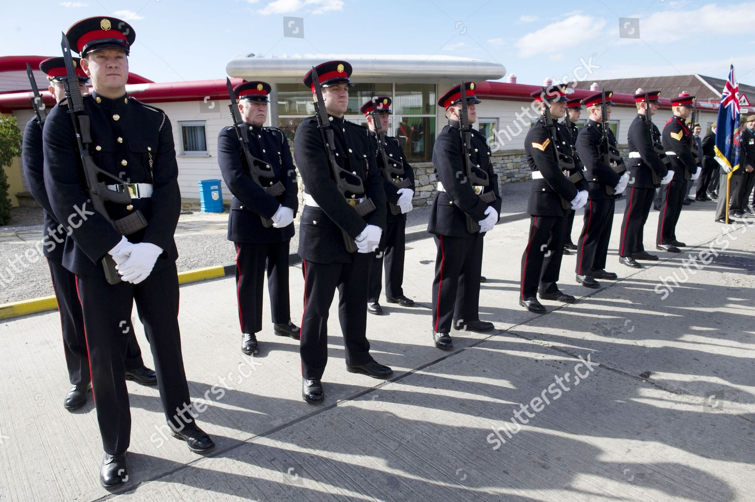 Members Falkland Islands Defence Force Editorial Stock Photo