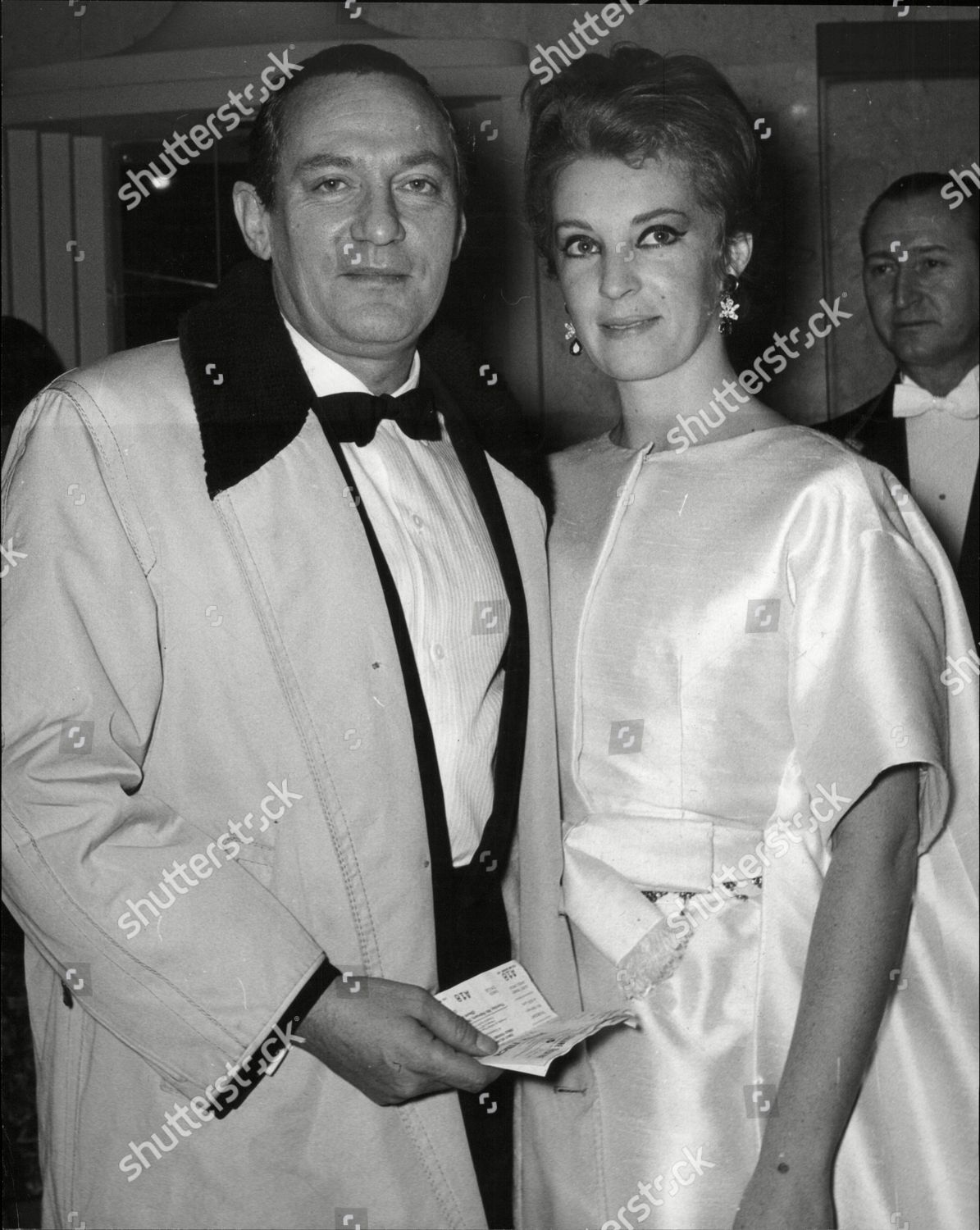 Actor Peter Finch His Wife South African Editorial Stock