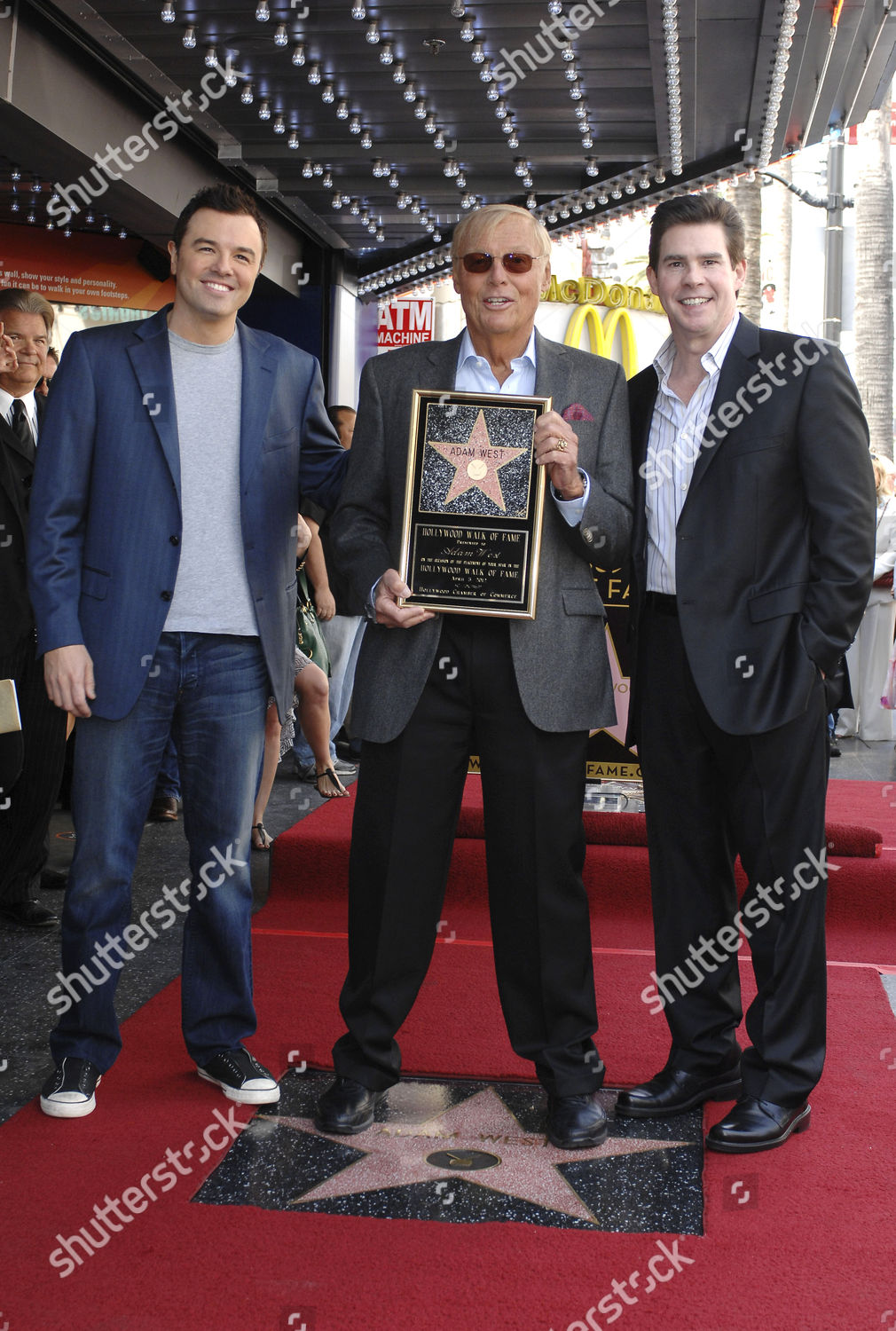 Stock photo of Adam West honored with a star on the Hollywood Walk of Fame, Los Angeles, America - 05 Apr 2012