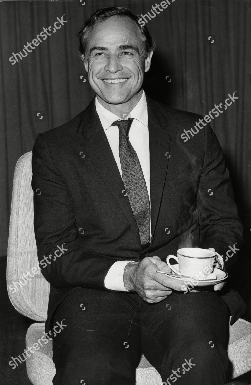 Actor Marlon Brando 1968 Redaktionelles Stockfoto – Stockbild