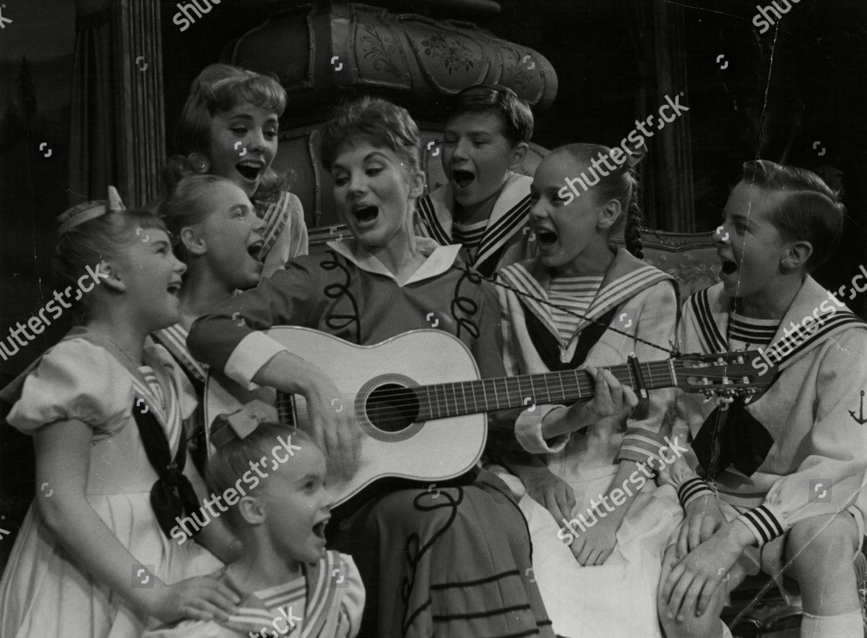 Jean Bayless Singing Von Trapp Children Scene Editorial