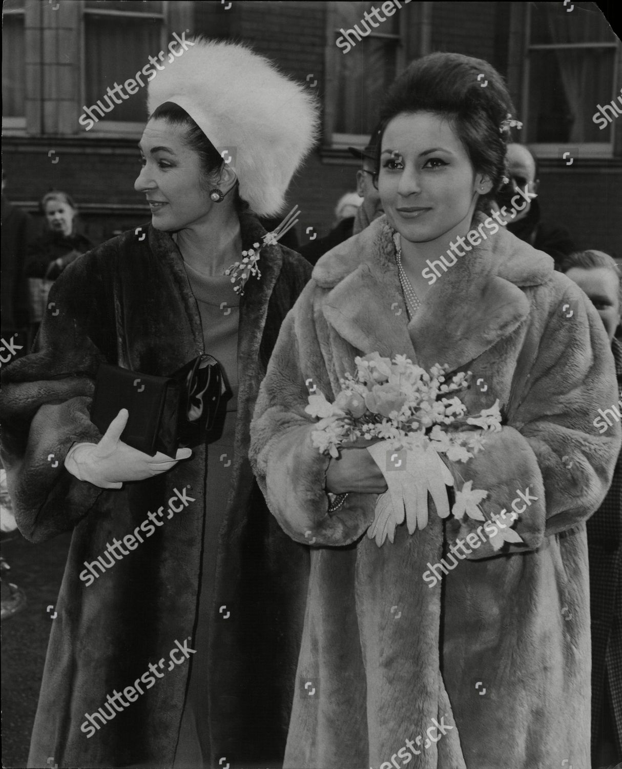 Queen Fazida Egypt Wedding Her Daughter Princess Stock Photo