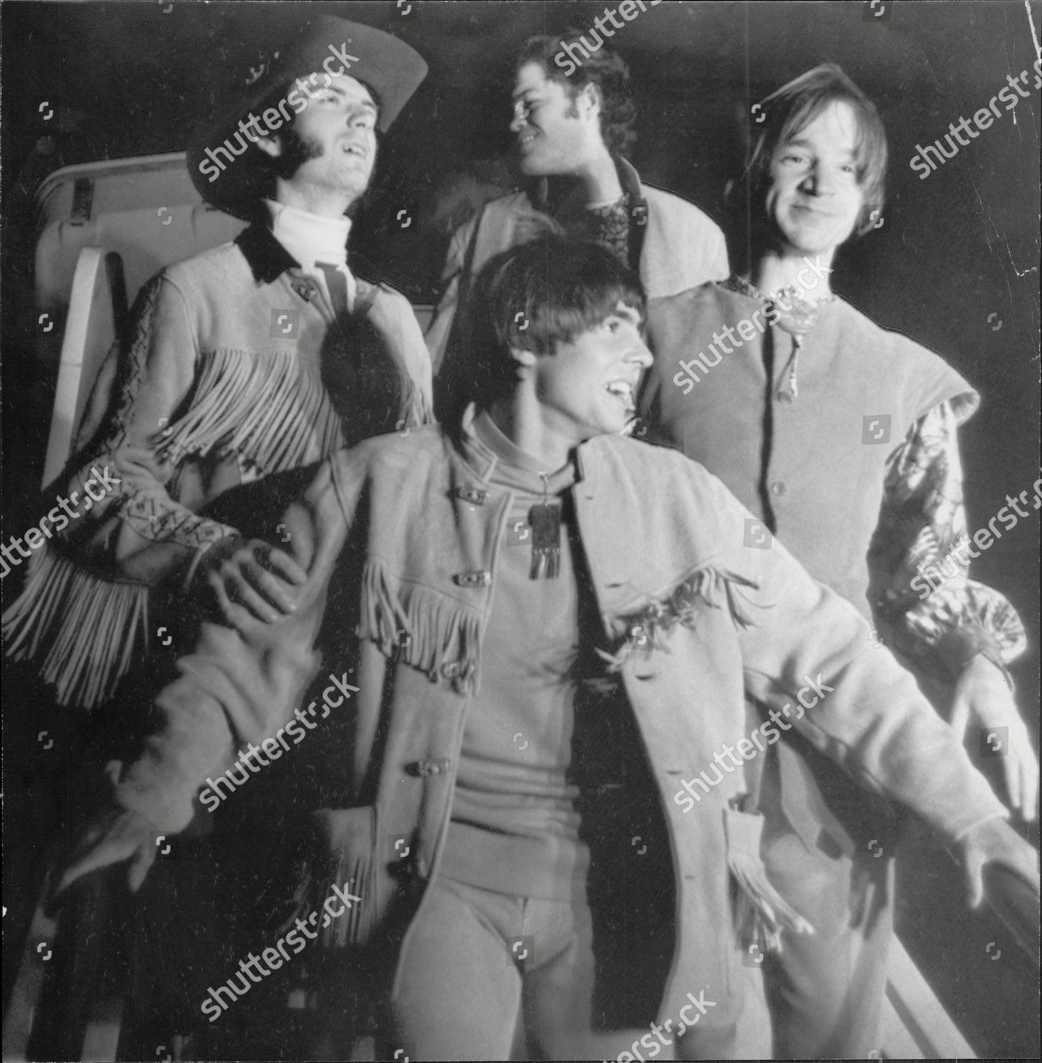 Pop Group Monkees Davy Jones front Micky Editorial Stock