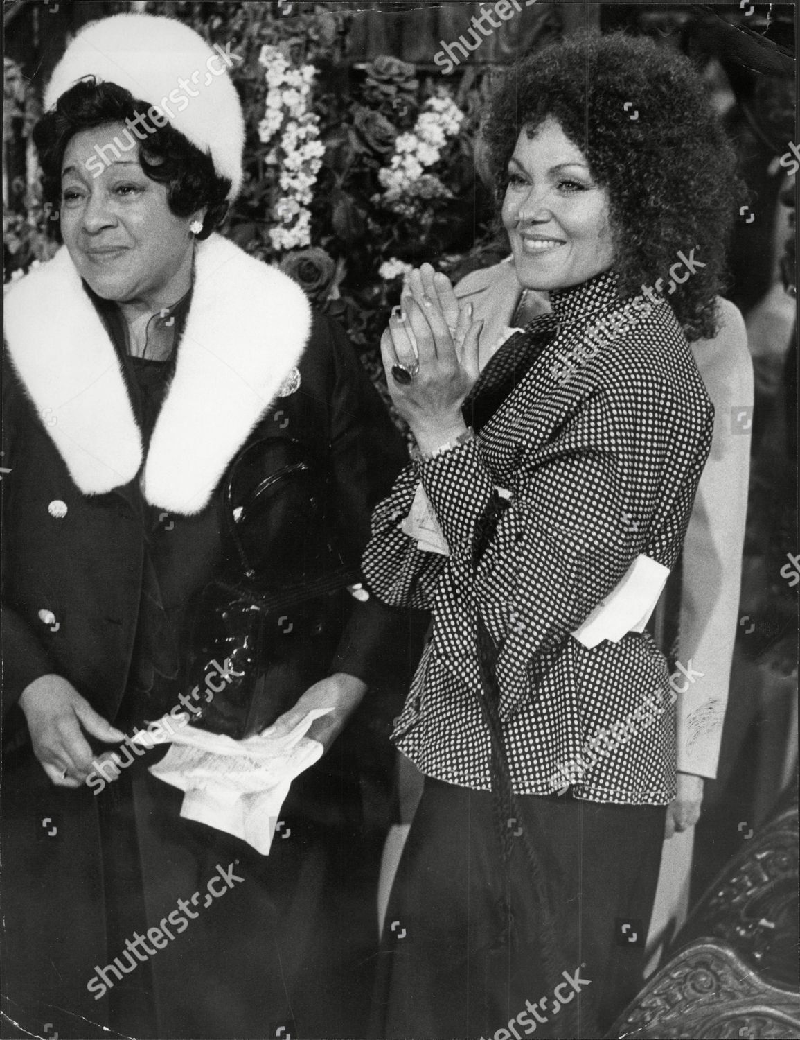 Stock photo of Adelaide Hall And Cleo Laine Attend Memorial Service For Duke Ellington At St Martin-in-the-field London