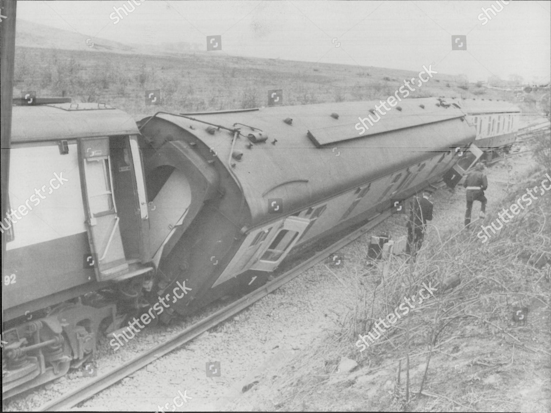 Railway Train Crash Britain 1980 Aberdeen London Editorial