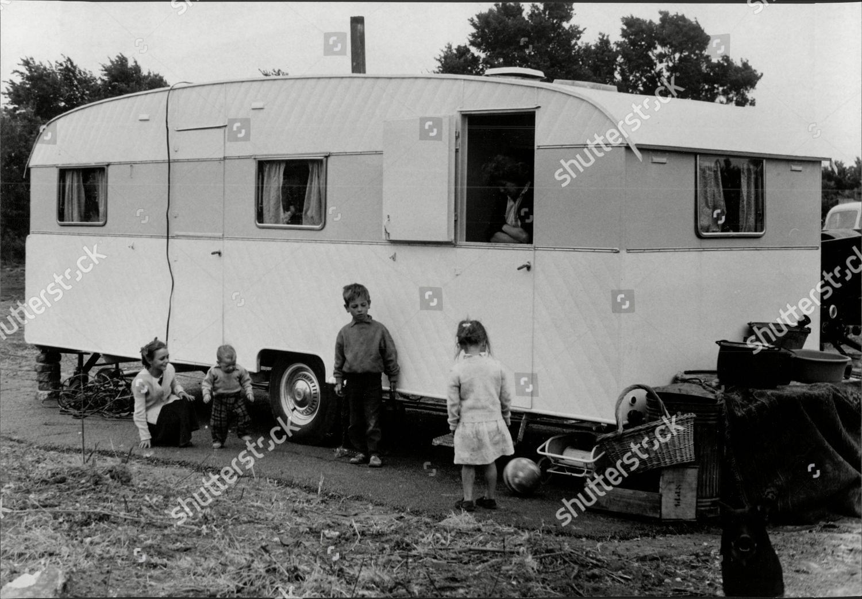 Gypsies Their Caravans Gypsies On Camp Site Editorial Stock