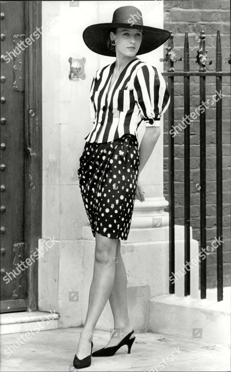 7d3f24bac4 Black And White Print Sarong Skirt. Black And White Striped Jacket A320 By  Arabella Pollen