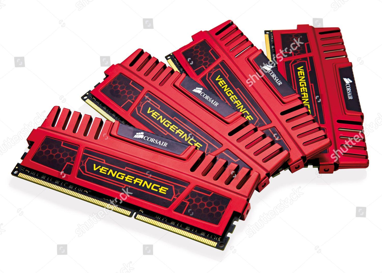Set Corsair Vengeance Racing Red Memory Modules Editorial