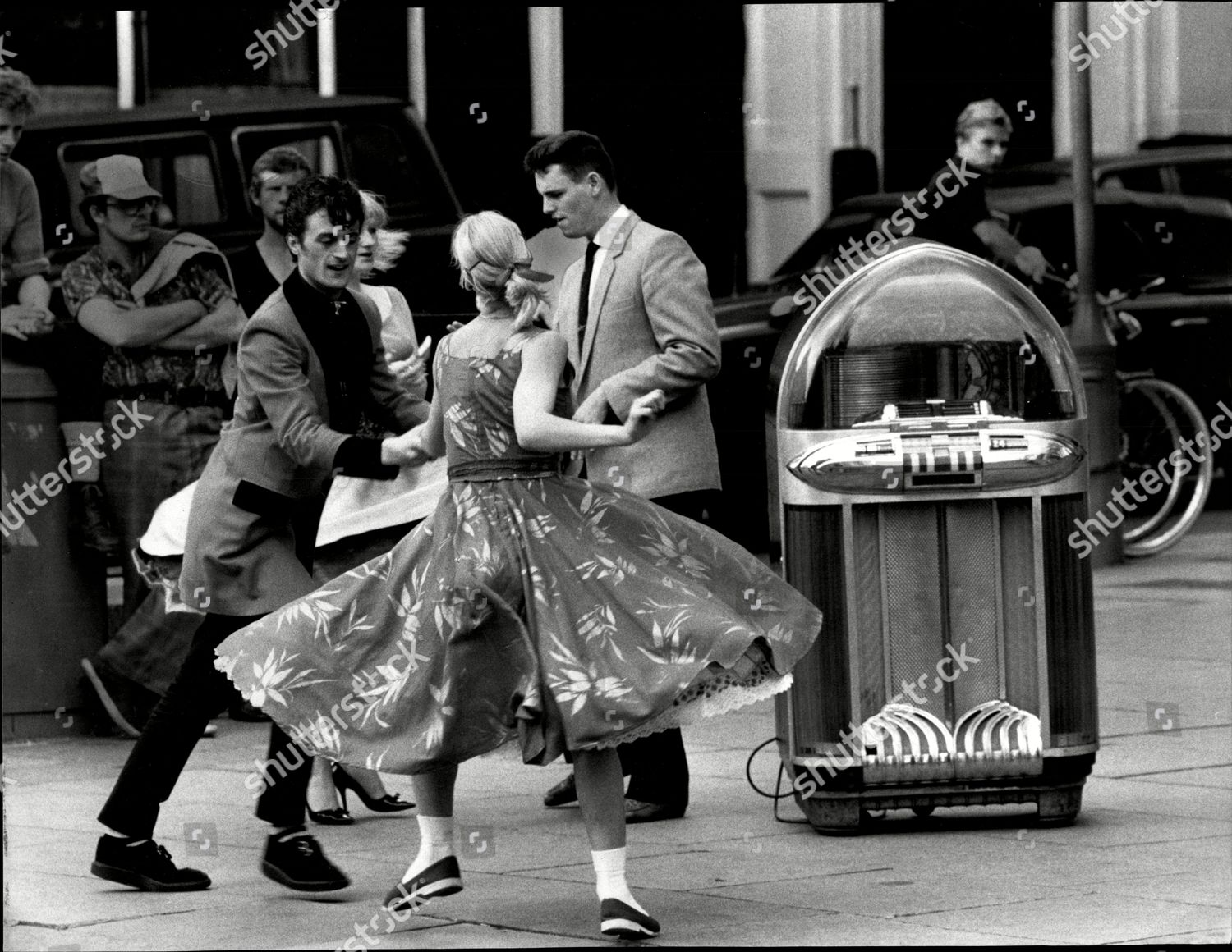 Dancers Dancing swing Dancing Jiving Buddy Holly Editorial
