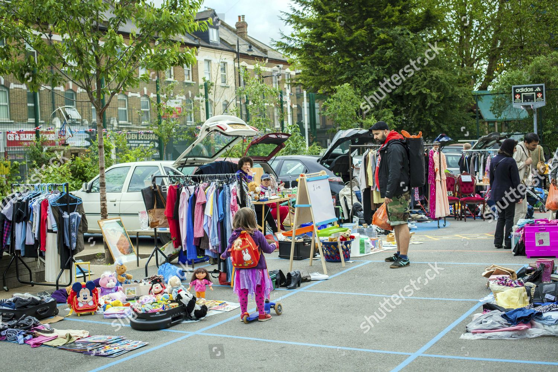 Stall Items Sale Princess May School Saturday Editorial Stock Photo