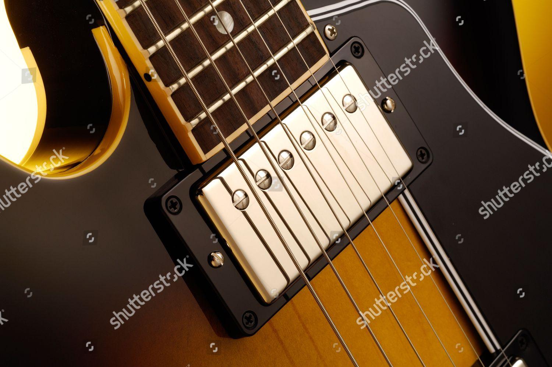 Neck Pickup Fretboard Cutaway Gibson Es339 Electric Editorial Stock