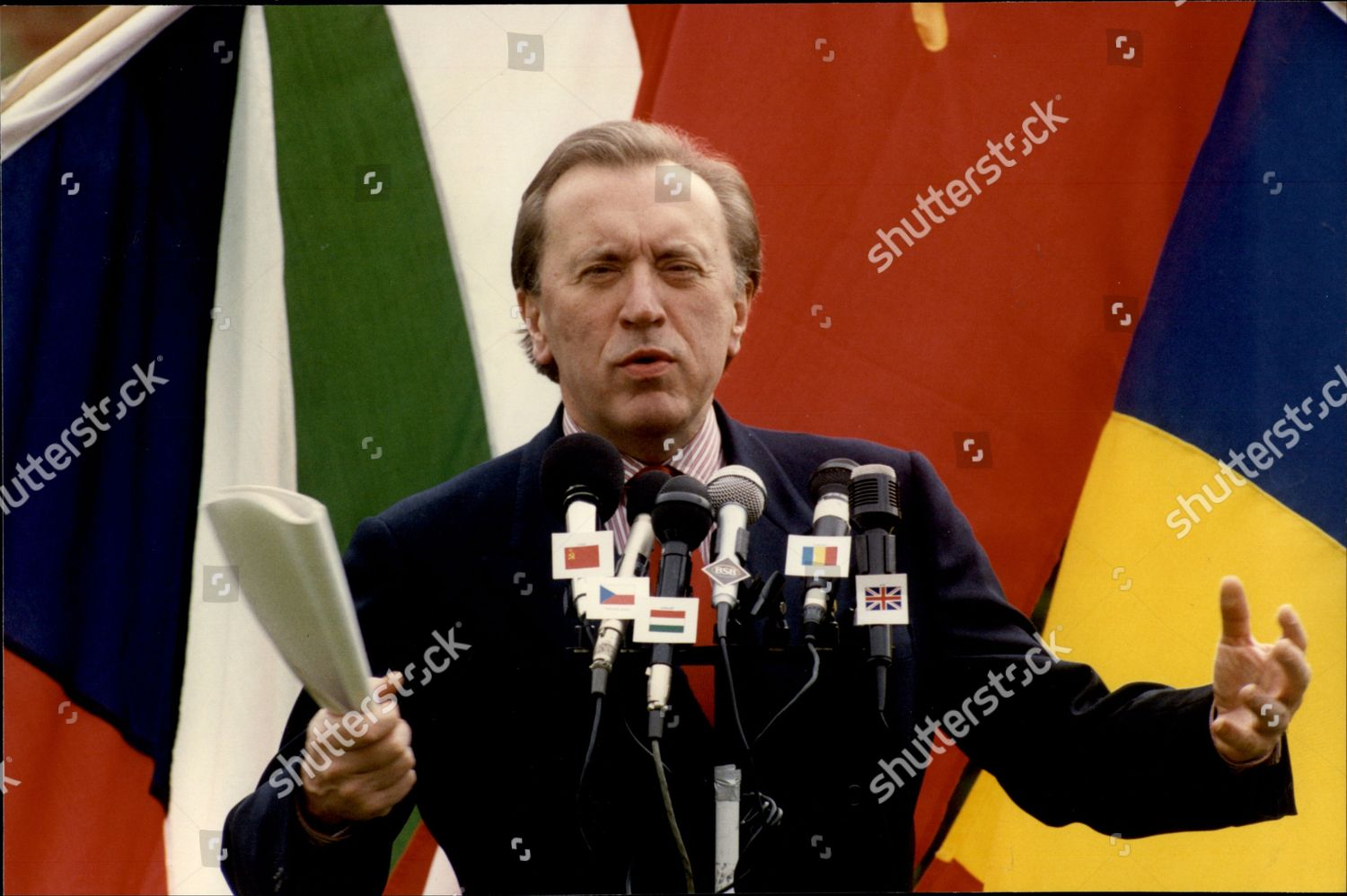 Television Presenter Newscaster Sir David Frost Sir Editorial Stock