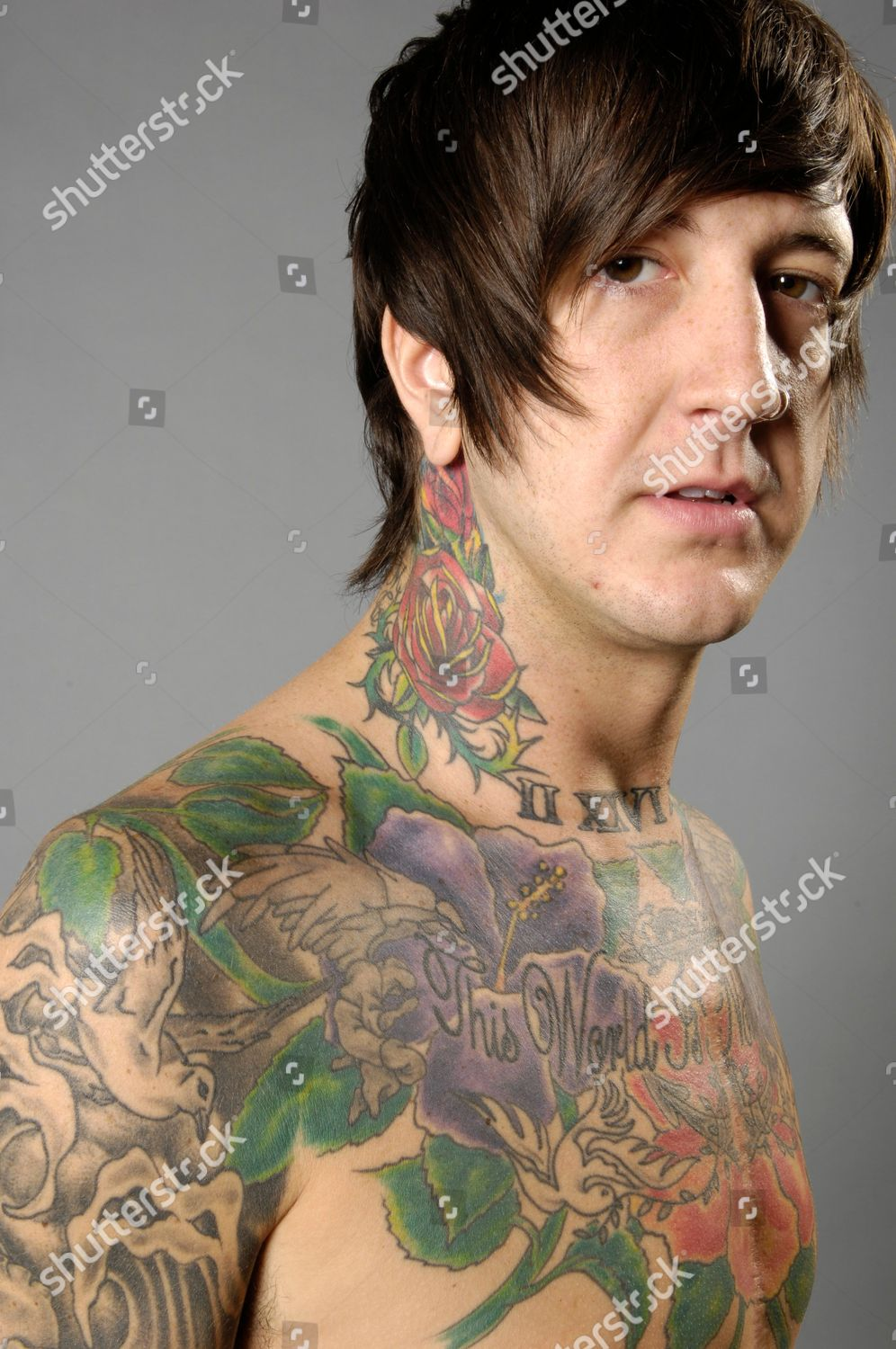 6458a80f2a8ca Austin Carlile Tattoo Portrait Shoot Stock Image by Kevin Nixon for  editorial use, May 3, 2012