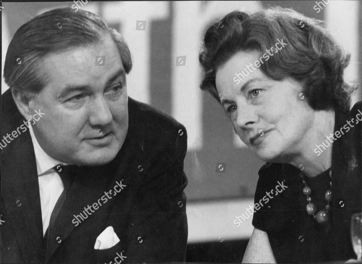 Stock photo of James Callaghan And Fellow Labour Politician Barbara Castle At Party Conference Brighton 1966.