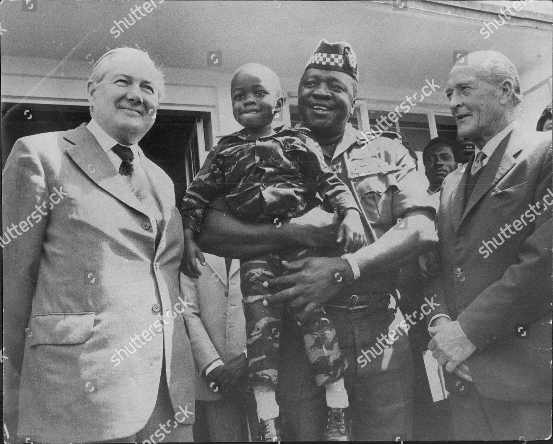 President Idi Amin His Threeyearold Son British Editorial