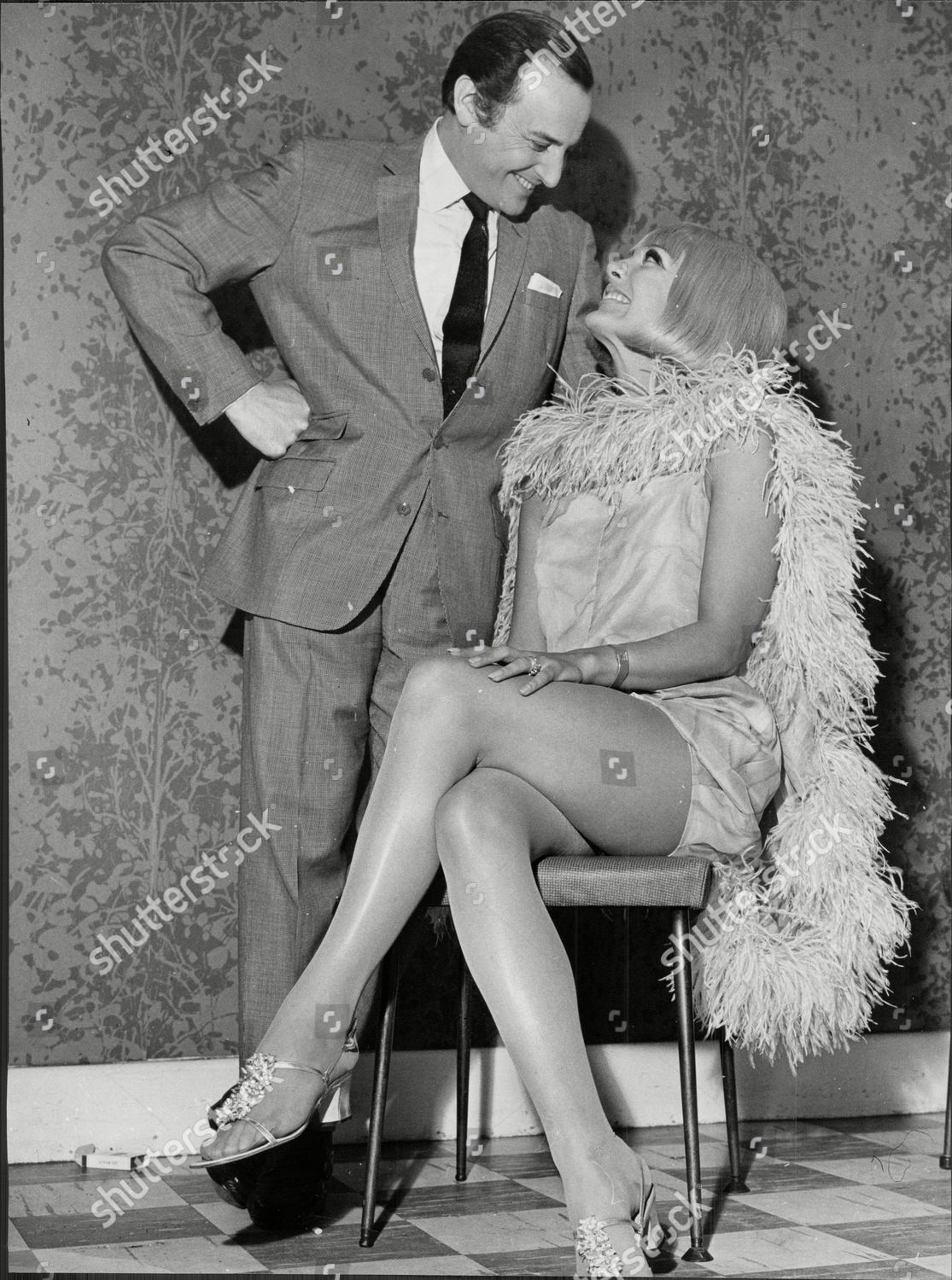 Actor And Television Presenter David Jacobs With Actress Ami Mcdonald Lewis Cbe Born 19 May 1926 Is A British Broadcaster Who