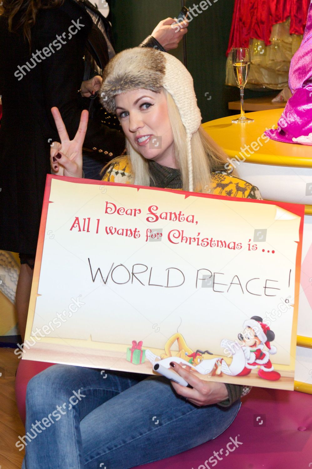 Stock photo of Launch of Disney Store's 'Share the Magic' Christmas Charity campaign, London, Britain - 07 Nov 2012