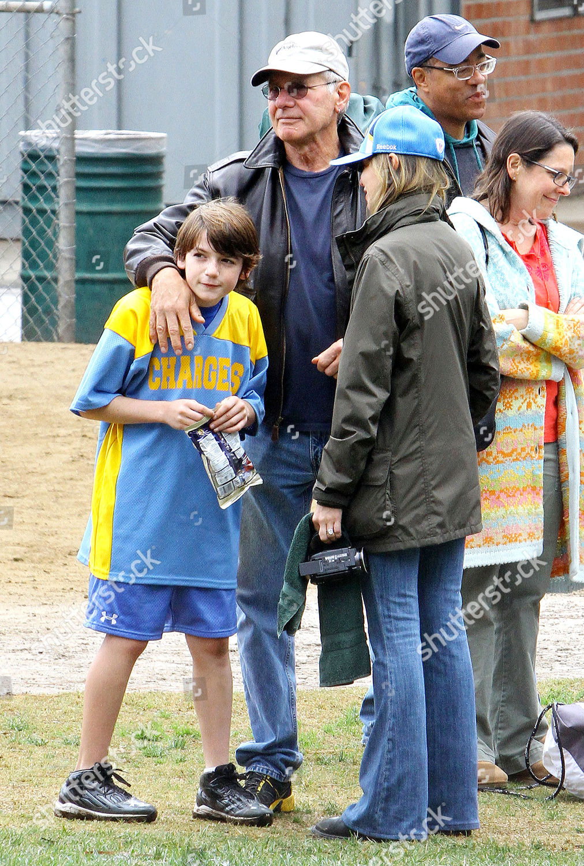 Harrison Ford Calista Flockhart son Liam Editorial Stock