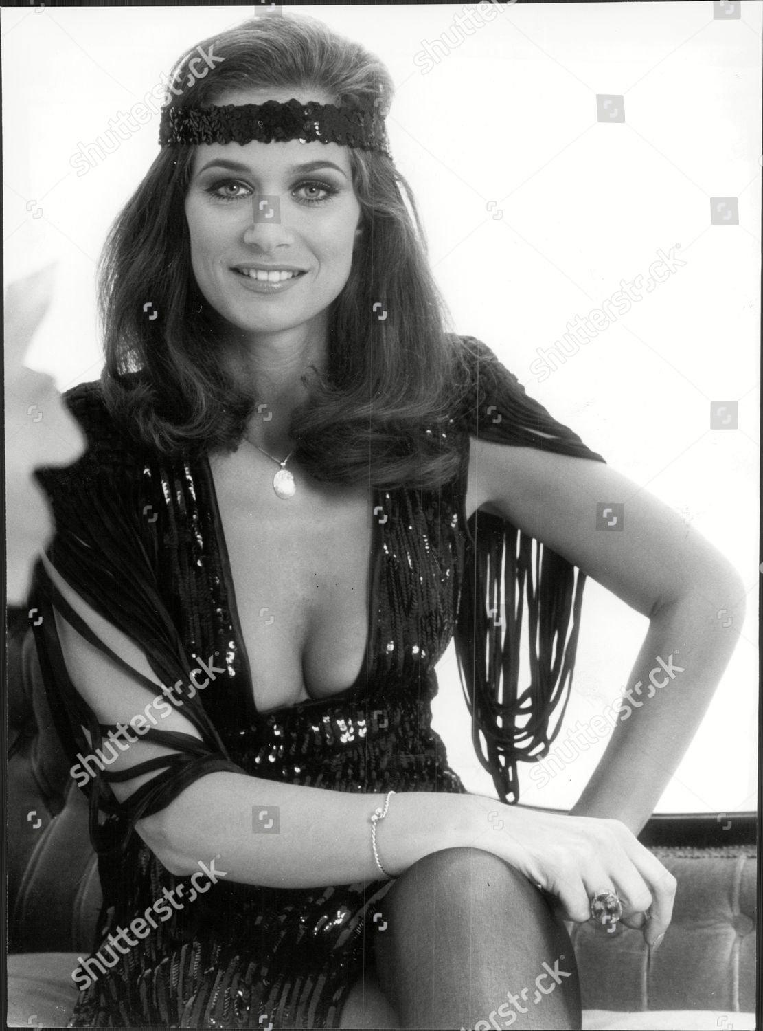 Stock Editorial Photo: Valerie Leon Actress 1920s Fashions 1978 Editorial Stock