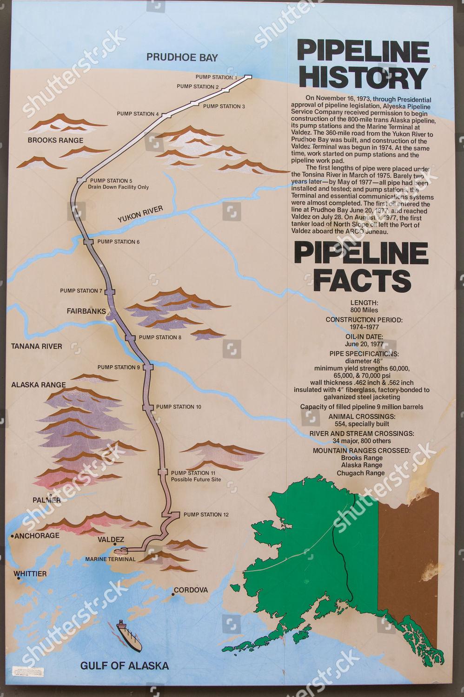 trans alaskan oil pipeline near Fairbanks Alaska Editorial ...