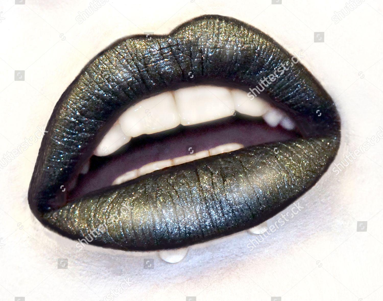 Black Sparkling Lips Editorial Stock Photo Stock Image Shutterstock